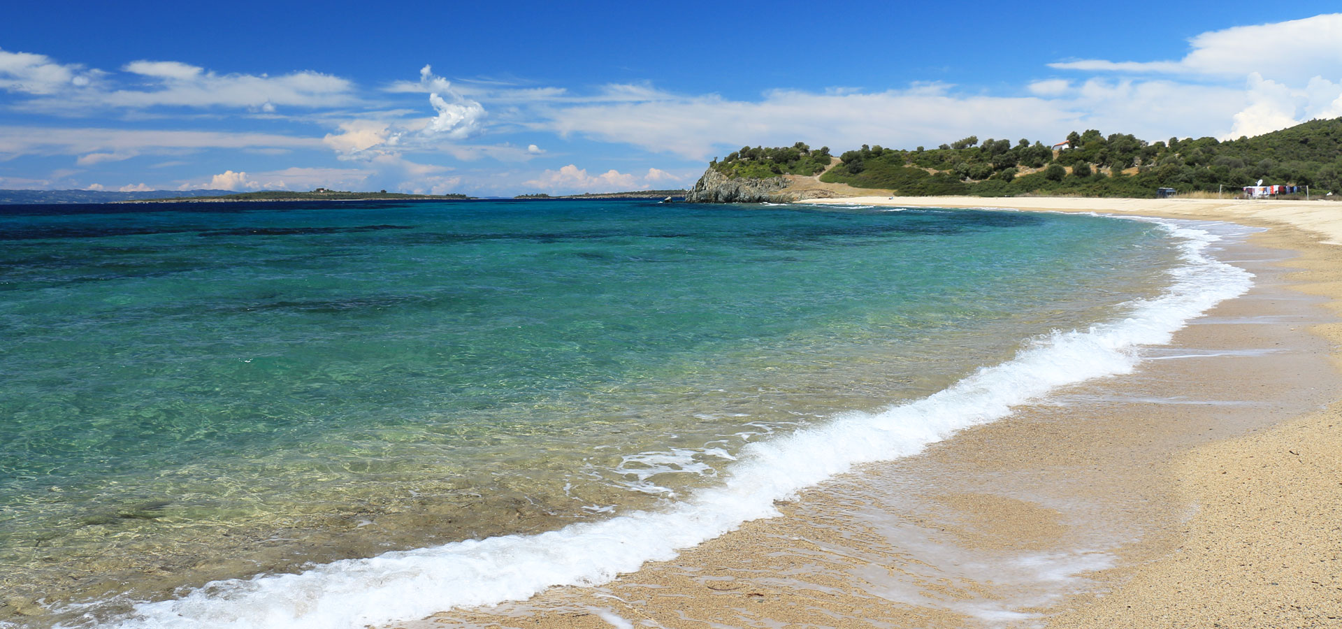 Isolated beach Azapiko, Sithonia
